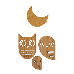 Petit Collage - Owl Bamboo Mobile - Owl Bamboo Mobile