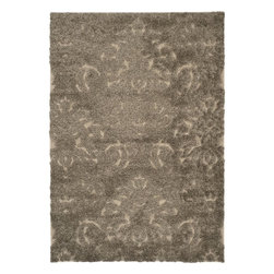 Safavieh - Safavieh Florida Transitional Shag Rug X-5-3197-064GS - This power-loomed Florida shag rug offers luxurious comfort and unique styling with a raised high-low pile.