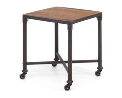 Zuo Modern - Zuo Mission Bay Side Table in Distressed Natural - Mission Bay Side Table in Distressed Natural by Zuo Modern Our distressed table pairs the warmth of reclaimed elm with warm, aged metal frames for an industrial, imperfect look. Side Table (1)