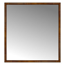 """Posters 2 Prints, LLC - 62"""" x 66"""" Belmont Light Brown Custom Framed Mirror - 62"""" x 66"""" Custom Framed Mirror made by Posters 2 Prints. Standard glass with unrivaled selection of crafted mirror frames.  Protected with category II safety backing to keep glass fragments together should the mirror be accidentally broken.  Safe arrival guaranteed.  Made in the United States of America"""