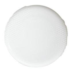 Rosenthal Studio - Landscape White Porcelain Dinner Plate - The Landscape collection was inspired by patterns that can be found in nautre. This unique, individual design is beautiful enough for any occasion, and versatile enough to pair with a wide range of accessories.