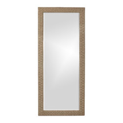 Howard Elliott - Sea Grass Tall Mirror - Our Sea Grass Mirror is framed in a stitched woven sea grass material.