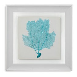 Bassett Mirror - Bassett Mirror Framed Under Glass Art, Sea Fan III - Sea Fan III