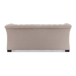 Zuo Modern - Zuo Modern Nob Hill Era Sofa X-89089 - A unique take of the classic Chesterfield style, the Nob Hill series evokes the grand gentlemen's club tradition. The body is solid wood and the fabric is a soft beige or charcoal linen fabric.