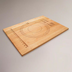 Embossed Pastry Board - My daughter just graduated, and I bought her one of these pastry boards for when she makes the leap into her own home. It's a great multifunctional must-have for anyone just starting out, as it has basic baking/cooking sizes and measurements all in one place.