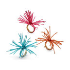 Frontgate - Kim Seybert Set of Four Spider Napkin Rings - Sold as a set of four. Available in seven bright colors. These whimsical Beaded Burst Spider Napkin Rings from Kim Seybert add flair to your table and are perfect for any festive summer celebration. It's an easy way to add color and whimsy to your outdoor party.. . Imported.