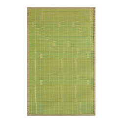 Anji Mountain Collection Key West 5'x8' - Our Mountain Collection Bamboo Rugs are crafted from eco-friendly bamboo harvested from sustainable forests.  The bamboo is kiln-dried,then planed and sanded for a smooth finish.  The patented, ventilated, non-slip rug pad backing cushions the rug, and keeps it in place. Also available in these other fashionable designs: Pearl River, Cobblestone, Contemporary Natural, Contemporary Chocolate, Contemporary Rainbow, and Premier.    Other sizes available: 2'x3', 4'x6', 7'x10'.