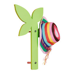 Welland - Welland Creative Leaf Wall Mount Coat Hat Rack Hook Hanger, Green - Wall Mount Coat Racks, also called Coat Stand or Garment Hangers.