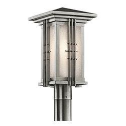 Kichler Lighting - Kichler Lighting 49162SS Portman Square Stainless Outdoor Post Light - Kichler Lighting 49162SS Portman Square Stainless Outdoor Post Light