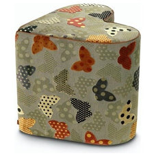 modern ottomans and cubes by AllModern