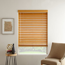 """2 1/2"""" Veneto Wood Blinds - Get a shutter look at the fraction of the price of wood shutters. The 2 ½"""" Veneto Wood blinds offer a sophisticated look to any room."""
