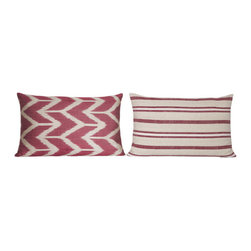 Striped Turkish Pillow - Turkish cushion collection designed with exotic and beautiful fabrics, combining the electric and sumptuous, mixing motifs, shapes and colors from many different cultures.