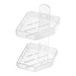 Toscanaluce - Plexiglass Double Shower Corner Basket - Unique, contemporary design wall mounted double shower corner basket(s).