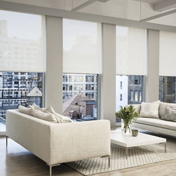 Smith and Noble Solar Roller Shades - Our technologically advanced Solar Shades cut glare and dramatically reduce UV rays that cause fading of furniture, carpeting and artwork, while letting you see out clearly, even when lowered. Staring $116