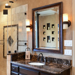 Bathrooms - Dark Emperador marble countertops, bathroom vanity, marble vanity, Dark Emperado ...