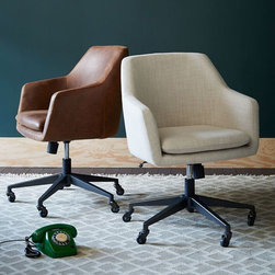 Helvetica Leather Office Chair - This chair is, hands down, my favorite out there in stylish-desk-chair land. (Yes, that's really a place.) It looks like a modern take on something that would be in Don Draper's office. Simply put, it's lovely.