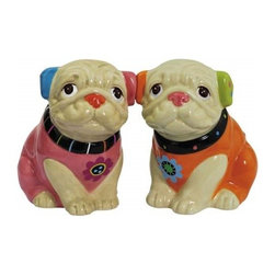 Westland - 2.75 Inch Colorful Cozy Pugs Facing Forward Salt and Pepper Shakers - This gorgeous 2.75 Inch Colorful Cozy Pugs Facing Forward Salt and Pepper Shakers has the finest details and highest quality you will find anywhere! 2.75 Inch Colorful Cozy Pugs Facing Forward Salt and Pepper Shakers is truly remarkable.