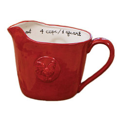 DEI - Ceramic Measuring Cup - Measure, pour and store til your heart's content with this dynamic measuring cup duo designed to add a bit of character to the kitchen and make food prep a breeze.   5'' H Holds 4 cups Ceramic Dishwasher-safe Imported