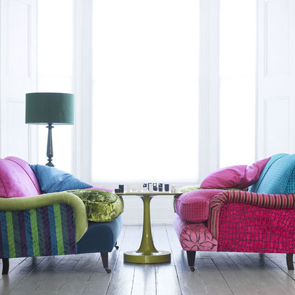 eclectic  funky chairs - Living Etc magazine