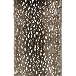 "Imax Worldwide Home - Elise Cutwork Bottle - Classic metallic bottle with an ornate cutwork design.; Country of Origin: China; Weight: 1.3 lbs; Dimensions: 22.5""h x 6.5""d"