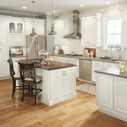 Grove Arch Painted Linen - Lowe's, cabinets, kitchens, Shenandoah Cabinetry