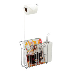 Better Living Toilet Mate Chrome - 53542 - The Toilet Mate is a sleek and stylish toilet tissue dispenser and organizer all in one. A spacious magazine rack and storage for two extra tissue rolls, all conveniently at your side!