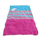 Brooklyn Beach - Linen Dragon Fruit / Turquoise / Multi Color Tie-Dyed Beach Blanket - Hand-dyed 100% handkerchief linen beach blanket.