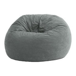 Comfort Research - Comfort Research 4 Foot Large Fuf Chair Comfort Suede, Steel Grey - This is the chair that brought bean bags out of the 1970s and into the bedrooms and dorm rooms all over the world. The first one to use patented memory foam, the Fuf is one-of-a-kind. Spend five minutes on a Fuf and your body will thank you for it! Covered in soft, durable fabric. Filled with super soft and long-lasting Fuf foam. Re-Fuf again and again for custom comfort. Place it on its side for more of a lounge position or upright for more back support. Spot clean.