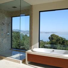 Contemporary Bathroom by Western Window Systems