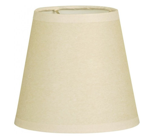 """""""Royal Designs, Inc"""" - 6"""" Parchment Empire Beige Chandelier Lampshade - """"This 6"""" Parchment Empire Beige Chandelier Lampshade - 4 x 6 x 5.5 is a part of Royal Designs, Inc. Timeless Chandelier Shade Collection and is perfect for anyone who is looking for a simple yet stunning lampshade. Royal Designs has been in the lampshade business since 1993 with their multiple shade lines that exemplify handcrafted quality and value."""