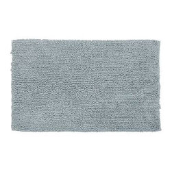 """Cotton Twist Bath Rug, 21 x 34"""", Fresca Blue - Pamper bare feet with our cotton bath rug, woven with oversized, twisted loops that absorb water quickly. 21"""" wide x 34"""" long Made of 100% cotton. Machine wash. Imported."""