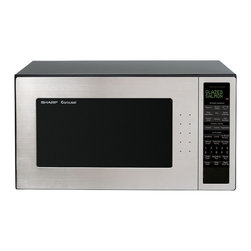 Sharp - 2.0 CF, 1200 Watts, New Glass Window, Let's Cook Defrost, Sensor - The well-designed Sharp R530EST 2.0 Cu. Ft. 1200W Full-Size Microwave Oven, in stainless steel, combines stunning appearance with smart timesaving features that eliminate cooking and programming guesswork. The Let's Cook feature allows you to prepare five breakfast foods, five lunch items, five 15-Minute Recipes and five From the Pantry recipes using ingredients commonly found in the kitchen. It is designed to promote quick and easy microwave cooking - as well as reheating and defrosting. The glass window adds to the look and feel of quality.1200-watt full-size microwave oven with 2-cubic-foot capacity|16-inch-diameter turntable provides even heating|33 automatic settings|2 line, 16 digit, 2 color display|Lets Cook feature promotes quick and easy microwave cooking, reheating and defrosting|Defrost Center includes Super Defrost and Compu Defrost|Keep Warm Plus keeps food hot up to 30 minutes after cooking is finished|Smart & Easy Sensor Settings for 13 different microwave favorites including frozen foods|Interactive Cooking System with Custom Help customizes oven to individual needs in English, Spanish or French|Color: Stainless Steel|  sharp| r530est| r-530est| 2.0 cf| 1200 watt| microwave| turntable  Package Contents: Microwave oven|turntable|manual / warranty  This item cannot be shipped to APO/FPO addresses  Sharp will no longer take back any Sharp product as a DOA.