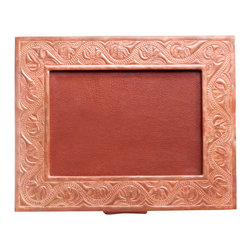 Amoretti Brothers - Amoretti Brothers Conde Picture Frame - Treat photos of your loved ones like cherished works of art with this frame made by artisans from hand-tooled copper and rich leather.