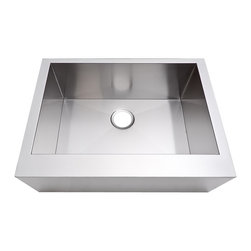 "Lavello - Stainless Steel Apron Sink - 30"" Flat Front - No blurred lines on this gorgeous sink, just sleek, straight ones. Those lines and the stainless steel make this sink completely classic but also thoroughly modern."