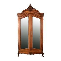 EuroLux Home - Consigned Antique French Armoire Closet Tall 1900 - Product Details