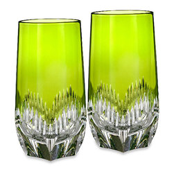 Waterford - Waterford Mixology Neon Green Highball Glass (Set Of 2) - The Waterford Mixology Neon Green Highball Glass is fresh and modern and will elevate the style of your next gathering.