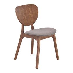 Zuo Modern Contemporary, Inc. - Overton Dining Chair Flint Gray (set of 2) - Slender shapes and clean lines in rubberwood define the Little Havana Chair's comfort and look.  With textured polyblend fabric, this chair gives a warm look to any contmporary space.  It is a great piece of design
