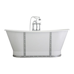 "Penhaglion - The Nautica 68"" Cast Iron French Bateau Tub Package from Penhaglion - Product Details"