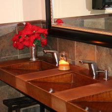 Modern Bathroom Countertops by Concrete Arts