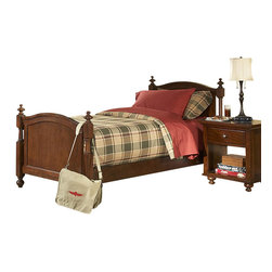 Homelegance - Homelegance Aris 4 Piece Poster Kids' Bedroom Set in Brown Cherry - Classic in design and bold in style, the youth version of our popular Aris collection adds warmth and character to your child's bedroom. Bun feet serve to support the simple yet elegantly designed case pieces, while the warm brown cherry finish on select hardwoods and veneers completes the overall look. Student desk with hutch and coordinating chair are also available.