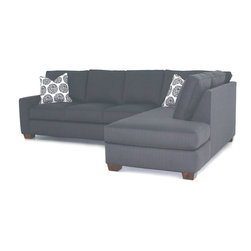 "Clifford Sofa/Chaise Sectional - Dimensions	Width: 112""Height: 32""Depth: 82"""