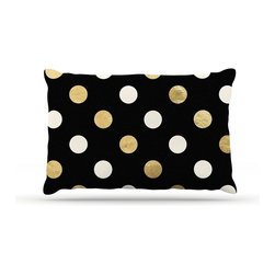 "Kess InHouse - KESS Original ""Golden Dots"" -Tags Fleece Dog Bed (30"" x 40"") - Pets deserve to be as comfortable as their humans! These dog beds not only give your pet the utmost comfort with their fleece cozy top but they match your house and decor! Kess Inhouse gives your pet some style by adding vivaciously artistic work onto their favorite place to lay, their bed! What's the best part? These are totally machine washable, just unzip the cover and throw it in the washing machine!"