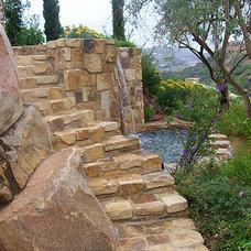 Mediterranean Pool by Richard Lusk Landscape and Design