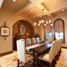 Mediterranean Dining Room by Creative Touch Interiors