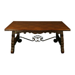 EuroLux Home - Large Vintage French Dining Table - Product Details
