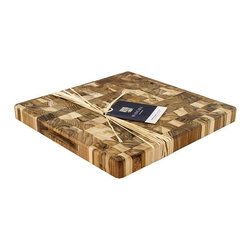 Madeira - Madeira Provo Collection Medium End Grain Chop Block 14 x 14 x 1.25 - The Madeira Canary Collection Medium End Grain Chop Block is a wonderful, all-purpose cutting board appropriate for all chopping, cutting, and mincing needs.