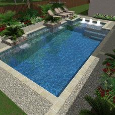 Modern  by Cypress Custom Pools