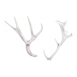 Lucite Antlers - I know, antlers, antlers, antlers! But I still love them. This fresh take in lucite would be beautiful on a coffee table, sparkling in the sunlight.