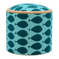 "Pomada - Fish Turquoise Mini Box Ottoman - Winner of the ""Oro Valmont"" award for designer of the year 2011."