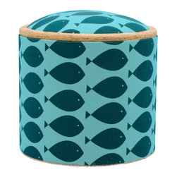 "Pomada - Fish Turquoise Mini Box Ottoman - Winner of the ""Oro Valmont"" award for designer of the year 2011."